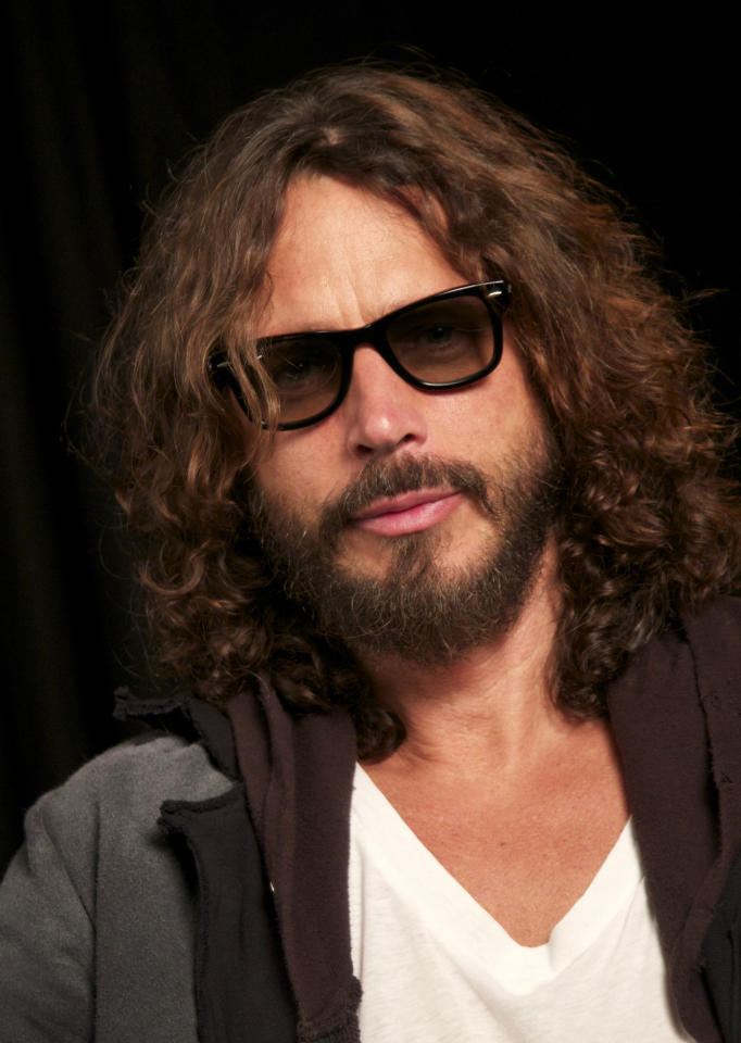 "In this Sept. 23, 2011 photo, musician Chris Cornell is shown in New York. In November, Cornell released ""Songbook,"" a live collection of his solo performances that represents a wide swath of his own work, as well as some of his favorite cover tunes. They include Led Zeppelin's ""Thank You"" and John Lennon's ""Imagine."" (AP Photo/John Carucci)"