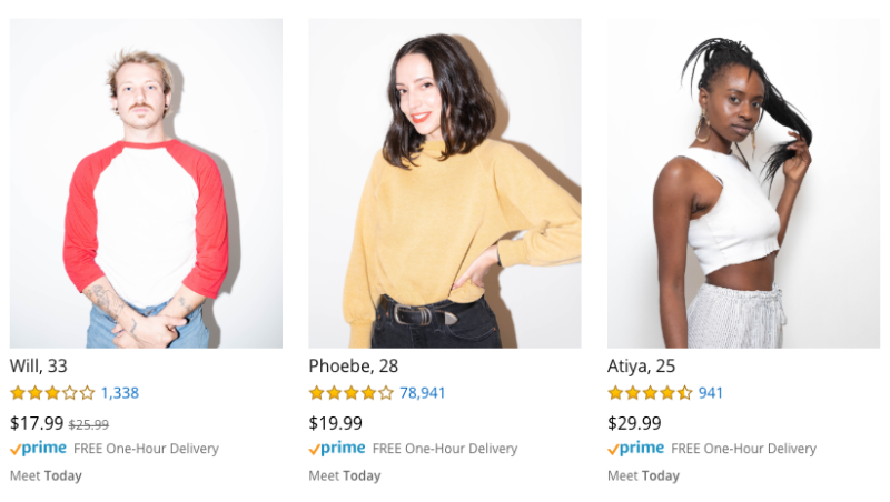 Amazon has placed people up for sale. Source: Getty