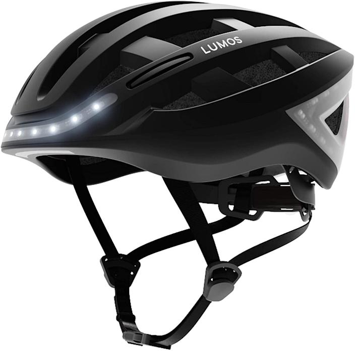 <p>The <span>Lumos Kickstart Smart Helmet</span> ($220) brings safety to a whole new level. It's the world's first smart bicycle helmet with integrated headlights, brake lights, and turn signals!</p>