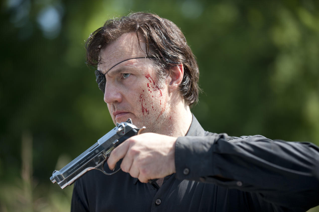 <p>The Woodbury leader cut a dashing figure and we could see how Andrea would fall for him — had he not been a total psychopath who kept zombie heads as trophies and murdered anybody who didn't conform to his vision of the world.<br /><br />(Photo: AMC) </p>