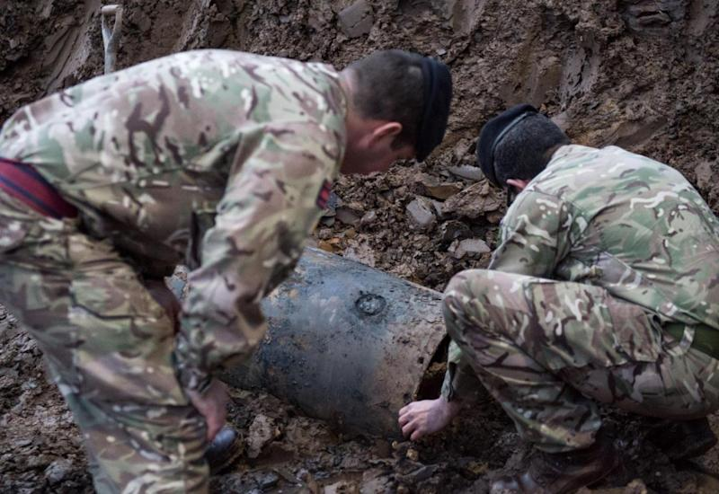 The army is taking the bomb to the countryside to safely dispose of it (Rupert Frere/MoD/Crown Copyright)
