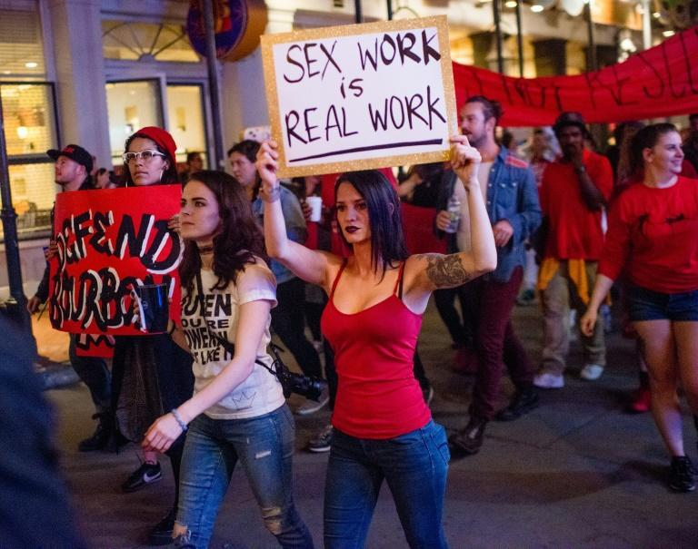 There are approximately one million sex workers in the United States, many of whom are more vulnerable than ever due to the coronavirus pandemic (AFP Photo/Emily Kask)