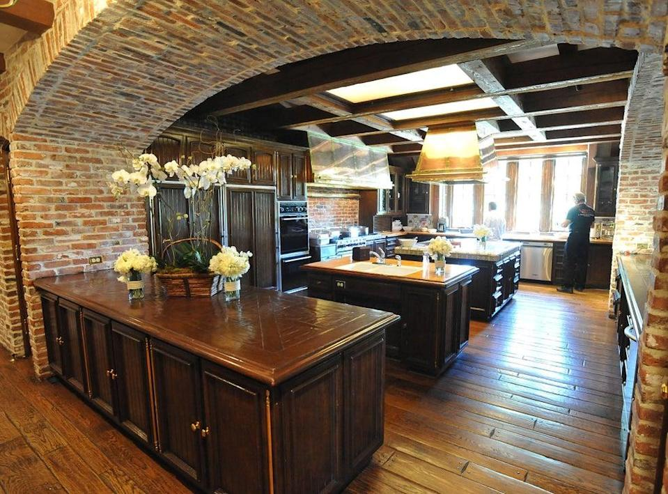 Kitchen in the main house of Neverland Ranch
