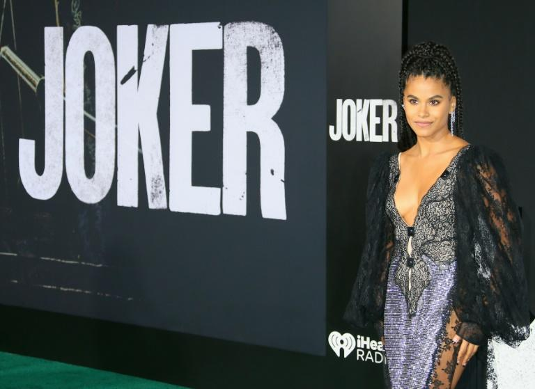 """US-German actress Zazie Beetz arrives for the premiere of Warner Bros' """"Joker"""" at TCL Chinese Theatre in Hollywood in September 2019"""