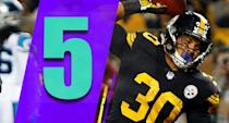 <p>Weird things happen on Thursday nights, but beating a good Panthers team 52-21 is a sign the Steelers are in full stride. They're going to be fun to watch the rest of the way. (James Conner) </p>