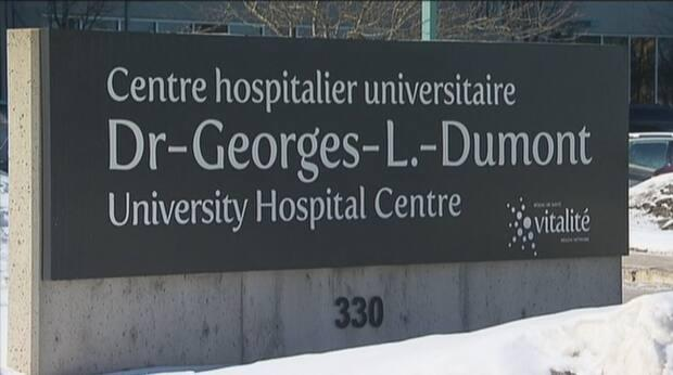 Admissions will be reduced at the Dr. Georges-L.-Dumont University Hospital Centre and Stella-Maris-de-Kent Hospital in Sainte-Anne-de-Kent. (CBC - image credit)