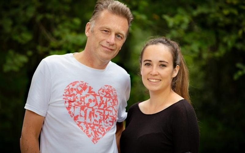 Chris Packham with step-daughter Megan McCubbin