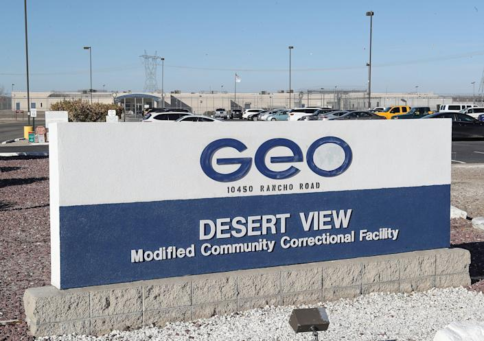 The Desert View Correctional Facility is operated by the Geo Group and may be converted to an immigration detention facility in Adelanto, Calif., January 22, 2020.