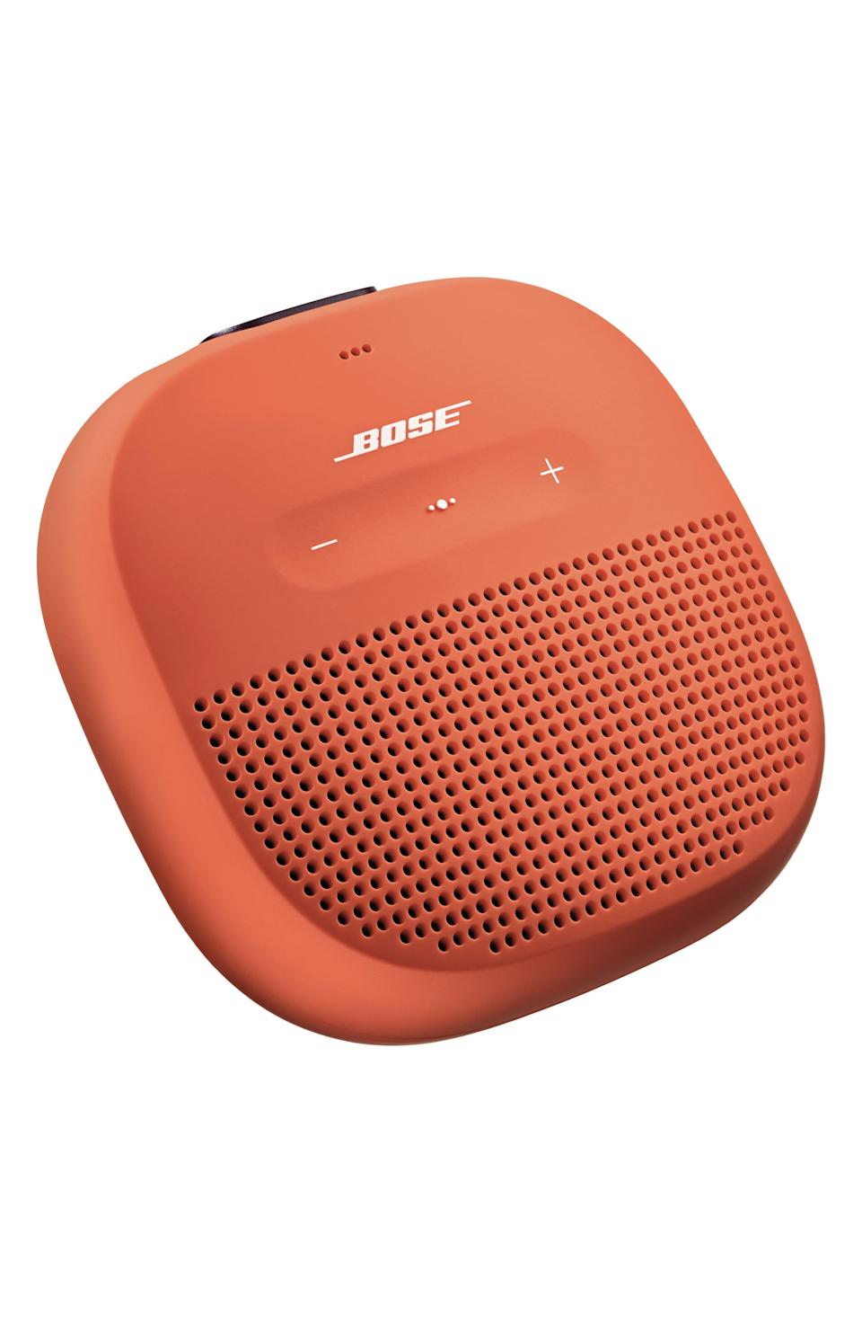 """<p><strong>BOSE</strong></p><p>nordstrom.com</p><p><strong>$99.00</strong></p><p><a href=""""https://go.redirectingat.com?id=74968X1596630&url=https%3A%2F%2Fwww.nordstrom.com%2Fs%2Fbose-soundlink-micro-bluetooth-speaker%2F4722057&sref=https%3A%2F%2Fwww.menshealth.com%2Ftechnology-gear%2Fg35184277%2Fvalentines-day-gifts-for-men%2F"""" rel=""""nofollow noopener"""" target=""""_blank"""" data-ylk=""""slk:BUY IT HERE"""" class=""""link rapid-noclick-resp"""">BUY IT HERE</a></p><p>This bluetooth speaker from Bose is an absolute essential if your boyfriend is a music lover. It's a high-quality gift he'll use daily.</p>"""