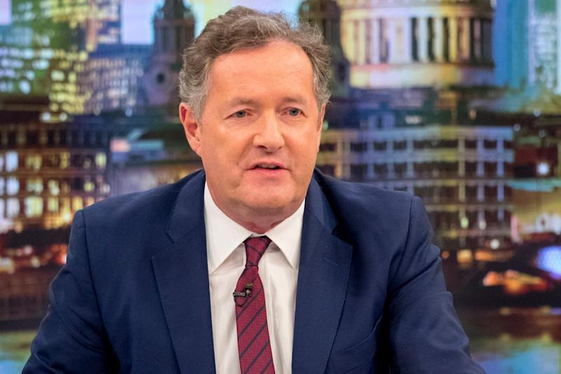 Concerned: Piers Morgan tweeted a picture of his son in hospital: Ken McKay/ITV/Rex