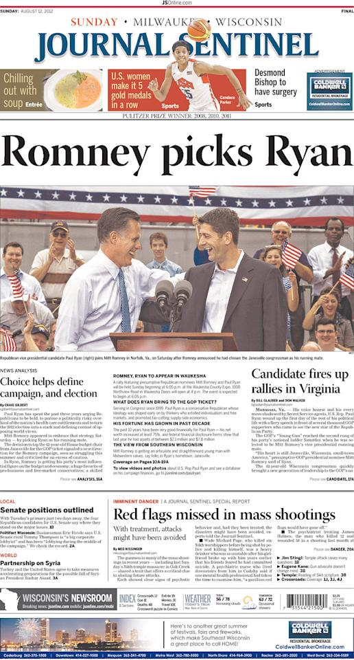 Milwaukee Journal Sentinel, Aug. 12, 2012