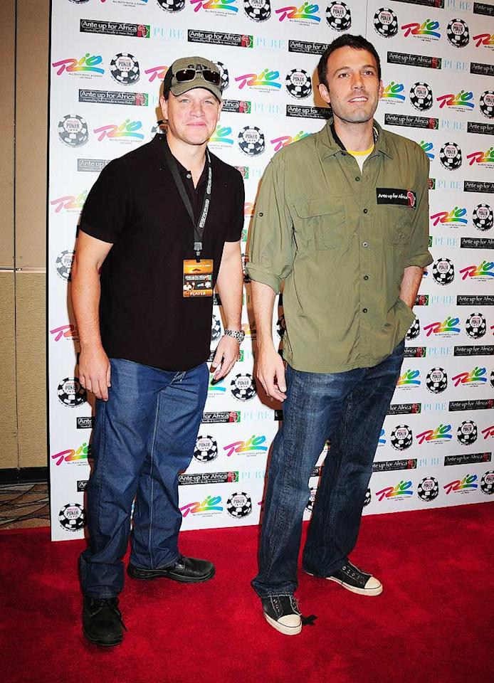 "Matt Damon and Ben Affleck have been close buds since they were kids growing up in Boston. The two even won an Academy Award together for writing ""Good Will Hunting,"" which won Best Original Screenplay in 1997. Jill Ann Spaulding/<a href=""http://filmmagic.com/"" target=""new"">FilmMagic.com</a> - July 2, 2008"
