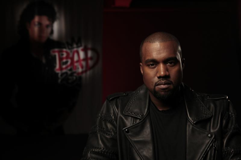 """This film image released by the Toronto International Film Festival shows Kanye West in a scene from the Spike Lee documentary """"Bad 25."""" Lee's documentary """"Bad 25"""" is playing the festival, marking the 25th anniversary of Jackson's 1987 album """"Bad."""" The film features footage shot by Jackson himself along with interviews with such stars and music producers as Mariah Carey, Sheryl Crow and L.A. Reid. (AP Photo/Toronto International Film Festival)"""