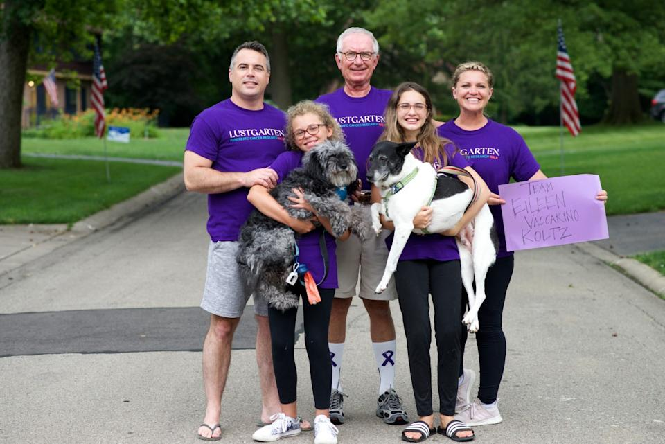 Participants walk in the first-ever Lustgarten National Virtual Walk for Research.