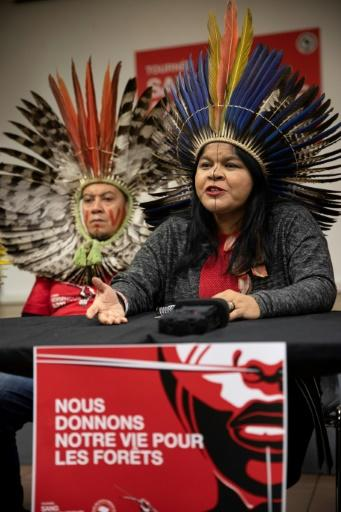 Brazilian Indigenous leader Sonia Guajajara told reporters they needed international help to defend their lands