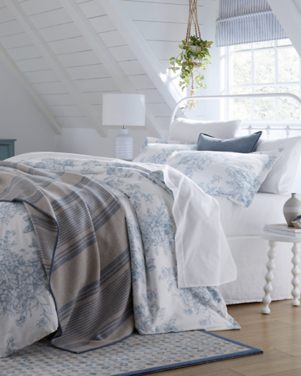 "<p><strong>Garnet Hill</strong></p><p>garnethill.com</p><p><strong>$79.00</strong></p><p><a href=""https://www.garnethill.com/garnet-hill-signature-flannel-bedding/bedding-home/sheets/flannel-sheets/131926"" rel=""nofollow noopener"" target=""_blank"" data-ylk=""slk:BUY NOW"" class=""link rapid-noclick-resp"">BUY NOW</a></p><p>Boasting all-season comfort, Garnet Hill's signature flannel bedding flaunts a dense, durable weave. Made in a generations-old, family-owned mill in Germany, the flannel sheets—with a fitted sheet, flat sheet, and shams sold separately, not as a set—exudes luxury. The flannels are available in a variety of solids and prints, as well as a coordinating duvet cover. You can even add your monogram for extra personalization! </p>"