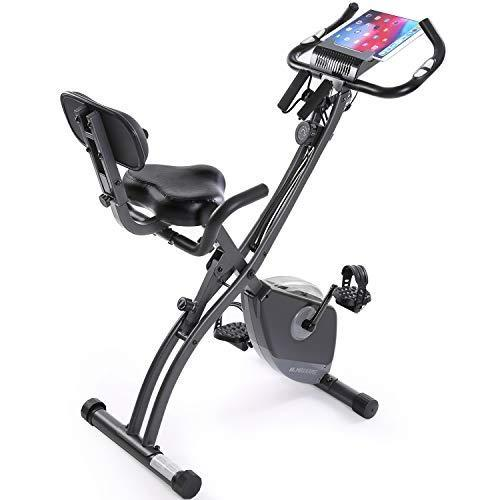 Exercise Bike Stationary Bike Foldable Magnetic UprightRecumbent Portable Fitness Cycle with…