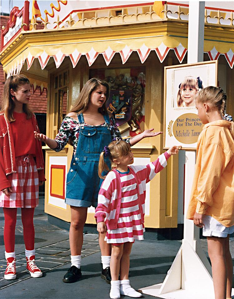 "<p><strong>""The House Meets the Mouse"" Parts 1 & 2 (1993)</strong><br /><br />Only the Tanner clan could take the happiest place on earth and turn it into a cliffhanger about a missing child. In this 1993 two-parter, the <em>Full House</em> fam headed to Florida's Walt Disney World, but it wasn't all theme park rides and Disney princesses during their visit to the House of Mouse. Sure, Danny finally proposed to Vicky (under the fireworks!), but little Michelle went missing and viewers were left with the dreaded ""To be continued…""<br /><br />(Photo: Everett Collection) </p>"