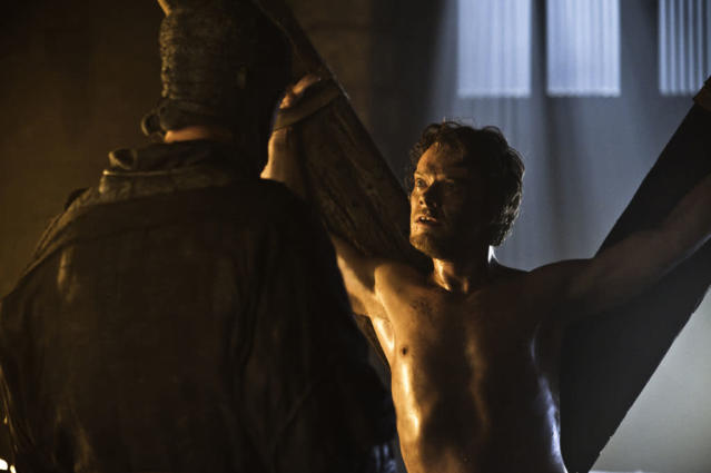 "Alfie Allen in the ""Game of Thrones"" Season 3 episode, ""The Bear and the Maiden Fair."""
