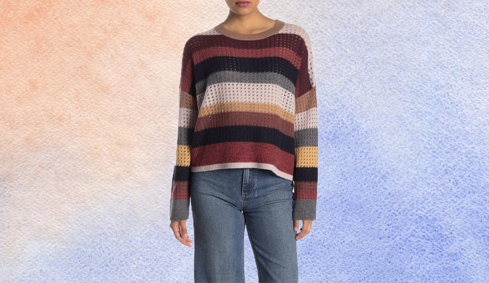 How fun is this striped sweater? (Photo: Nordstrom Rack)