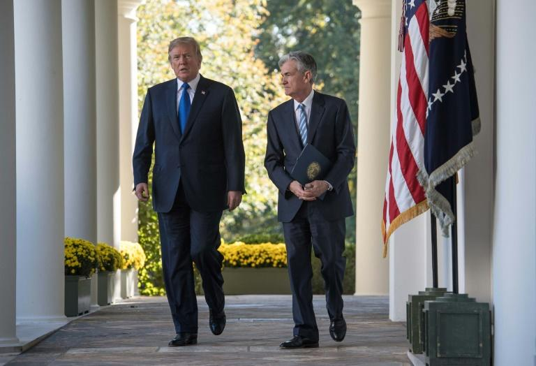 US President Donald Trump named Jerome Powell as Federal Reserve chairman, but for the past year has maintained an unrelenting campaign attacking the US central bank (AFP Photo/NICHOLAS KAMM)
