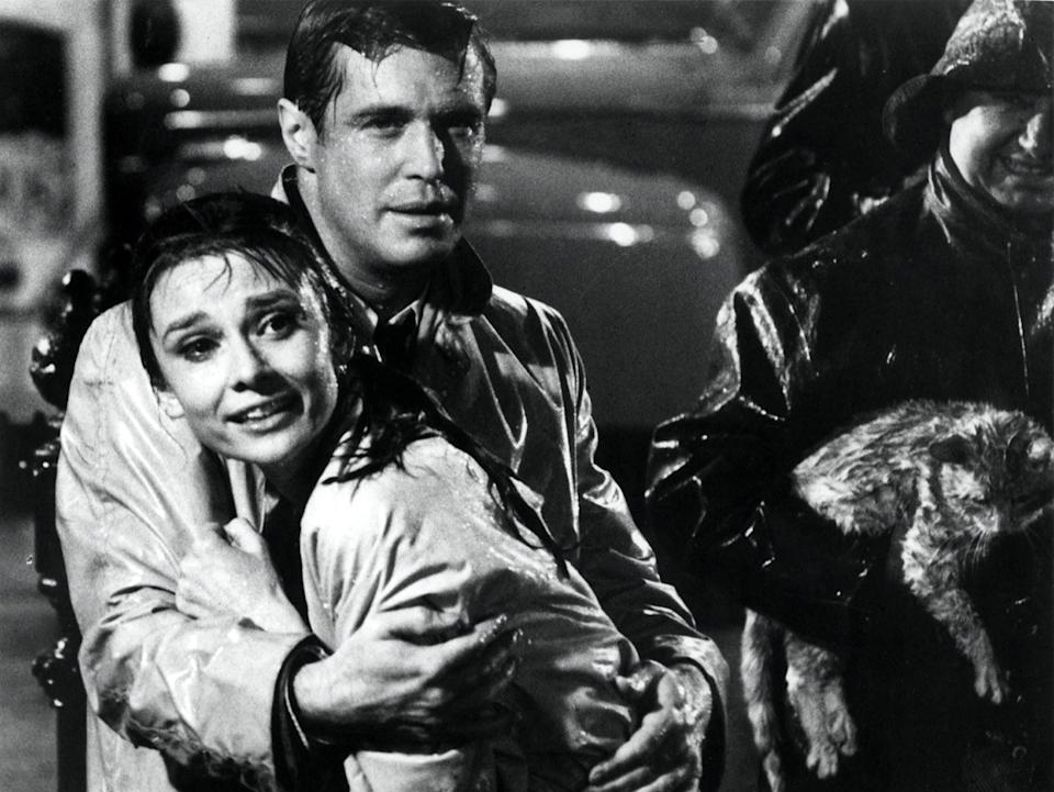 George Peppard and Audrey Hepburn in Breakfast at Tiffany's