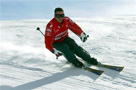 File photo of Schumacher skiing during a stay in the northern Italian resort of Madonna Di Campiglio