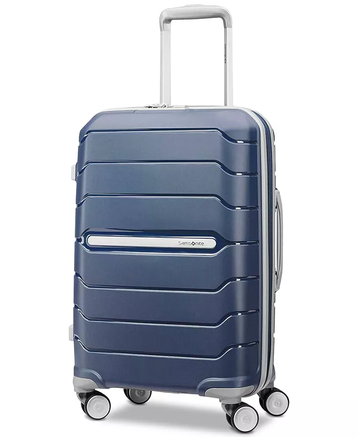 """<h2>Best Affordable Rolling Luggage<br></h2><br><h3>Samsonite Freeform 21"""" Carry-On Expandable Hardside Spinner Suitcase<br></h3><br>Samsonite is a trusted luggage brand for a reason. Its suitcases have a luxe feel at affordable prices. This spinner suitcase has double spinner wheels for increased maneuverability, increased packing capacity, and meets carry-on requirements for most major airlines.<br><br><strong>The Hype</strong>: 4.8 out of 5 stars and 877 reviews<br><br><strong>Out Of Towners say</strong>: """"Purchased two navy colors for husband and me for longer trips...[it's] lightweight and easy to manage on tile and rug. Can put into a vehicle using side or top handles. A great choice since old ones didn't offer this!""""<br><br><em>Shop <a href=""""https://www.macys.com/shop/featured/samsonite"""" rel=""""nofollow noopener"""" target=""""_blank"""" data-ylk=""""slk:Samsonite"""" class=""""link rapid-noclick-resp""""><strong>Samsonite</strong></a></em><br><br><strong>Samsonite</strong> Freeform 21, $, available at <a href=""""https://go.skimresources.com/?id=30283X879131&url=https%3A%2F%2Fwww.macys.com%2Fshop%2Fproduct%2Fsamsonite-freeform-21-carry-on-expandable-hardside-spinner-suitcase%3FID%3D12476358"""" rel=""""nofollow noopener"""" target=""""_blank"""" data-ylk=""""slk:Macy's"""" class=""""link rapid-noclick-resp"""">Macy's</a>"""