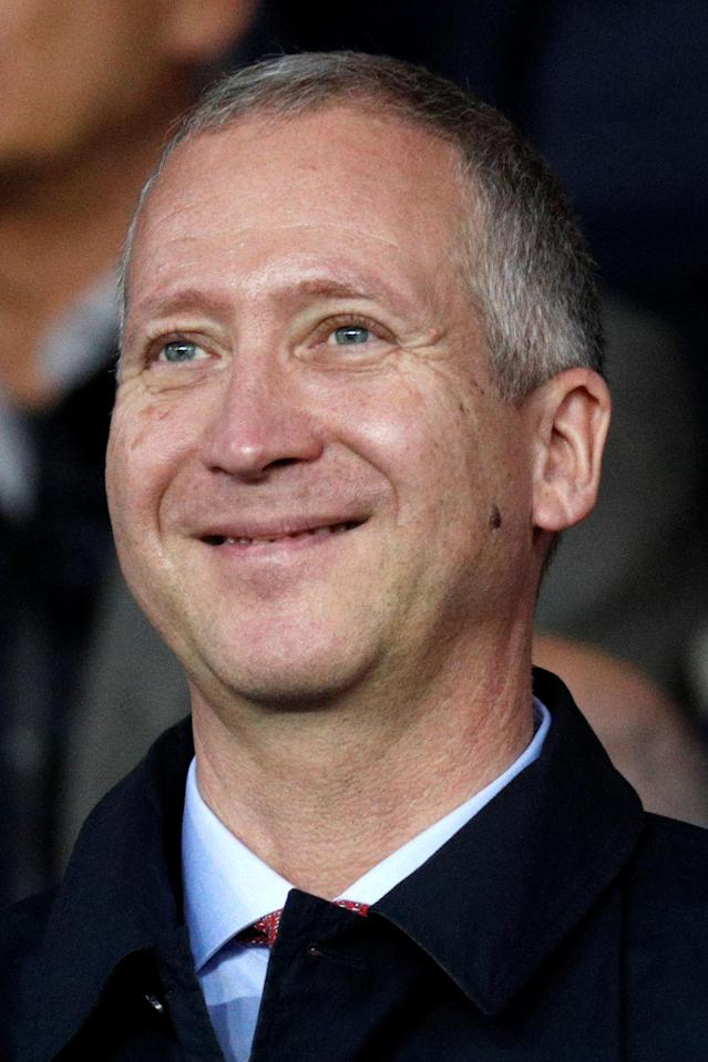 AS Monaco vice president Vadim Vasilyev attends the French Ligue 1 soccer match between Paris St Germain and AS Monaco at the Parc des Princes stadium in Paris, France, April 15, 2018. Picture taken April 15, 2018. REUTERS/Charles Platiau