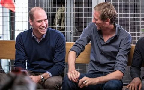 Prince William and Peter Crouch in the BBC programme - Credit: Guy Levy/BBC