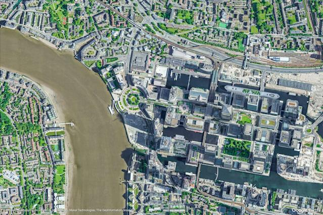 A Google Earth View of Greater London, United Kingdom. (Google Earth View)