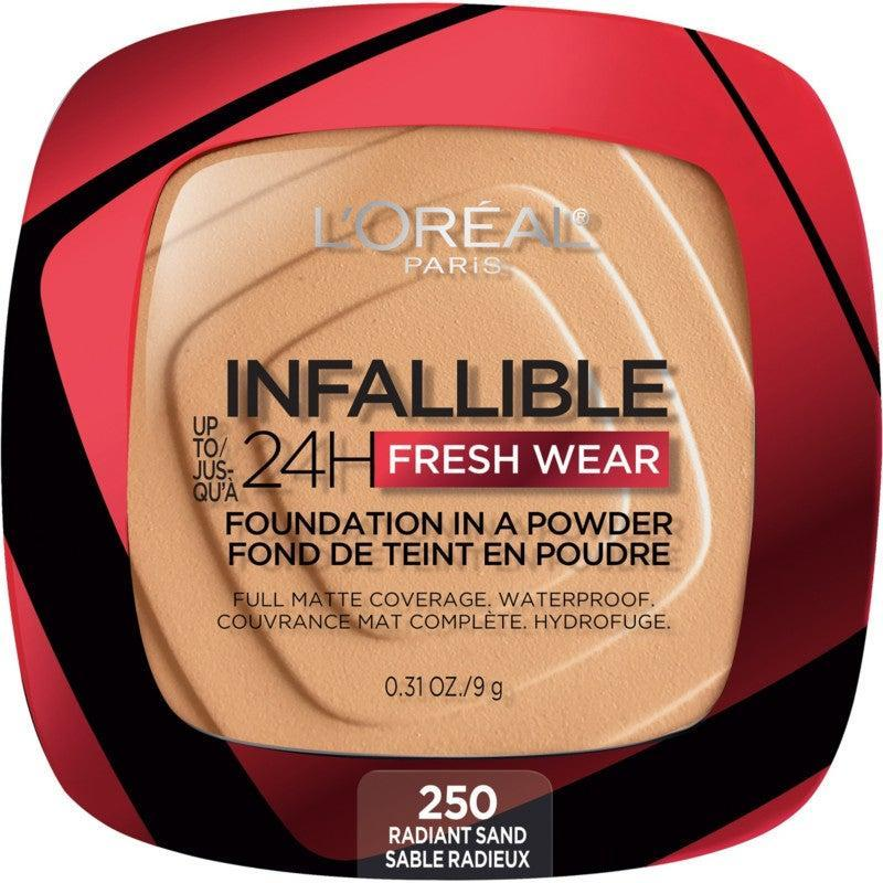 "<h2><h3>L'Oreal Infallible 24HR Fresh Wear Foundation In A Powder</h3></h2><br>One common concern about <a href=""https://www.refinery29.com/en-us/best-powder-foundation"" rel=""nofollow noopener"" target=""_blank"" data-ylk=""slk:powder foundation"" class=""link rapid-noclick-resp"">powder foundation</a> is that some can leave skin appearing dry or ashy. Fans of this popular formula, like <a href=""https://www.tiktok.com/@pri.spencer_/video/6931162669965692165?_d=secCgYIASAHKAESMgow1vIBVgCfx8%2FvcxtIBb47pNj5SmgbxJrlDRna1AFqm5wuf1J5h4D54nCVRZcMfIafGgA%3D&enable_clips=1&language=en&preview_pb=0&sec_user_id=MS4wLjABAAAAheeTMzzM7lpeapX2MArMf9fuOPjRzw2aATw20WdF5flVhD-WdIsVw5VqDYOQz1n8&share_item_id=6931162669965692165&share_link_id=602D1D28-2164-40C5-BAAA-D14C6529E9F4&timestamp=1617054029&tt_from=sms&u_code=d9mc06bhh9062j&user_id=6771163767818470405&utm_campaign=client_share&utm_medium=ios&utm_source=sms&source=h5_m"" rel=""nofollow noopener"" target=""_blank"" data-ylk=""slk:TikToker Pri Spencer"" class=""link rapid-noclick-resp"">TikToker Pri Spencer</a>, can confirm that not only does this drugstore powder provide natural-looking full coverage, but it won't show up ghostly in photos with the flash on. <br><br><strong>L'Oréal</strong> Infallible 24HR Fresh Wear Foundation In A Powder, $, available at <a href=""https://go.skimresources.com/?id=30283X879131&url=https%3A%2F%2Fwww.ulta.com%2Finfallible-24hr-fresh-wear-foundation-in-a-powder%3FproductId%3Dpimprod2021871%26sku%3D2575165%26cmpid%3DPS_Non%21google%21Product_Listing_Ads%26cagpspn%3Dpla%26CATCI%3Dpla-1399923139672%26CAAGID%3D117121415934%26CAWELAID%3D330000200002705367%26CATARGETID%3D330000200002744201%26CADevice%3Dc%26gclid%3DCj0KCQjw9YWDBhDyARIsADt6sGZaEjbjQwgzHE30oT9oxXttssw8Oe8TCwKvJKSMxvpBrJePyB6Iu7kaAguwEALw_wcB"" rel=""nofollow noopener"" target=""_blank"" data-ylk=""slk:Ulta"" class=""link rapid-noclick-resp"">Ulta</a>"