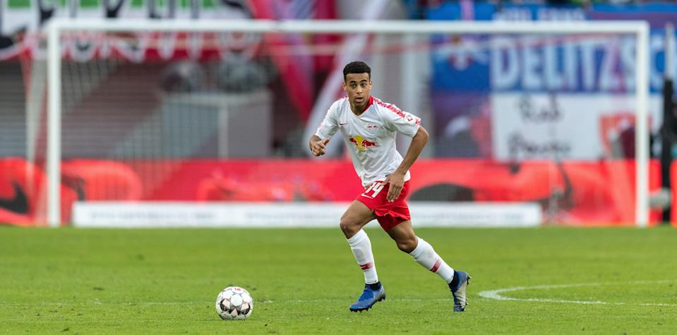 LEIPZIG, GERMANY - MARCH 09: Tyler Adams of RB Leipzig runs with the ball during the Bundesliga match between RB Leipzig and FC Augsburg at Red Bull Arena on March 09, 2019 in Leipzig, Germany. (Photo by Boris Streubel/Getty Images)