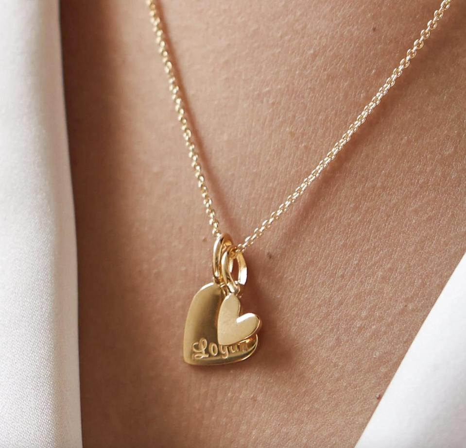 <p>This <span>Rellery Double Heart Necklace</span> ($135) would be a wonderful gift.</p>