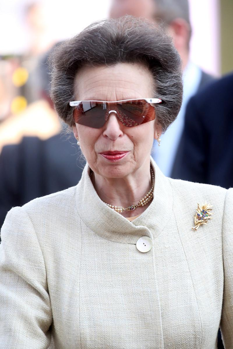 Princess Anne at the Chelsea Flower Show in London, two days after Meghan Markle and Prince Harry's royal wedding, May 2018.