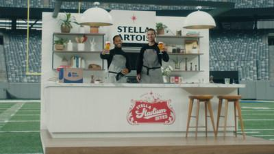 """Eli Manning and Victor Cruz are reuniting to help fans dominate their big game """"home""""-gate with Stella Stadium Bites by Blue Apron. The duo will take to the field together once more to give fans the play-by-play of four winning recipes that pair perfectly with a Stella Artois."""