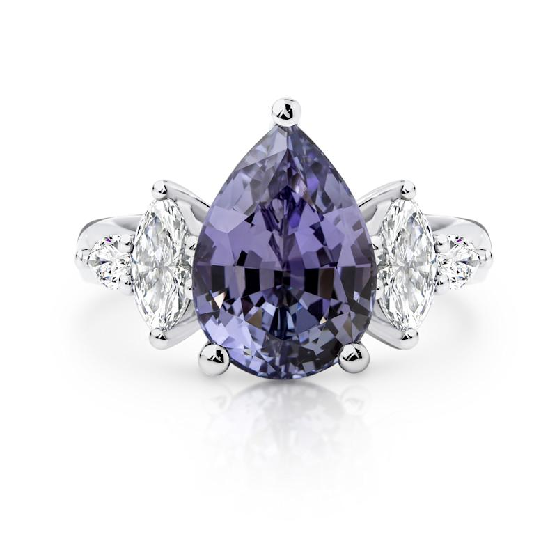 Locky gave Irena a 6.14ct Tanzanite gemstone ring thought to be worth $30k. Photo: Larsen Jewellery (supplied).