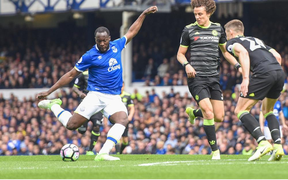 Lukaku shoots - Credit: Mercury Press/REX/Shutterstock