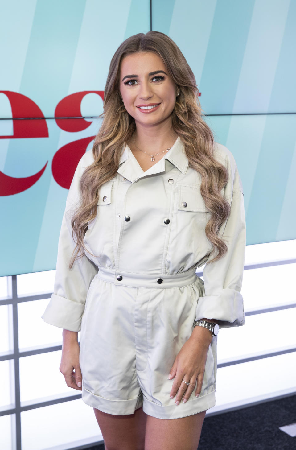 LONDON, ENGLAND - OCTOBER 21: Dani Dyer visits Heat Radio on October 21, 2019 in London, England. (Photo by John Phillips/Getty Images)