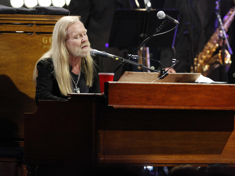 Gregg Allman performed at All My Friends: Celebrating The Songs and Voice of Gregg Allman on Friday, Jan. 10, 2014 in Atlanta, Ga. (Photo by Dan Harr/Invision/AP)