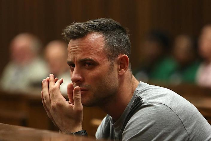 Paralympian Oscar Pistorius was jailed for six years for murdering his girlfriend Reeva Steenkamp (AFP Photo/Alon Skuy)