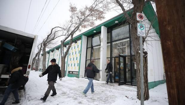 Volunteers move boxes into the latest Carmichel Outreach location on 11th Avenue in Regina in April of 2020. Marc Spooner said community-based organizations have fluctuating funds and locations so the survival guide needs to be updated regularly.