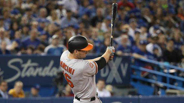 Baltimore Orioles rookie Trey Mancini has a magic bat.