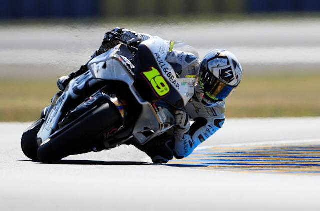 Motorcycling - MotoGP - French Grand Prix - Bugatti Circuit, Le Mans, France - May 19, 2018 Ducati's Alvaro Bautista during practice REUTERS/Gonzalo Fuentes