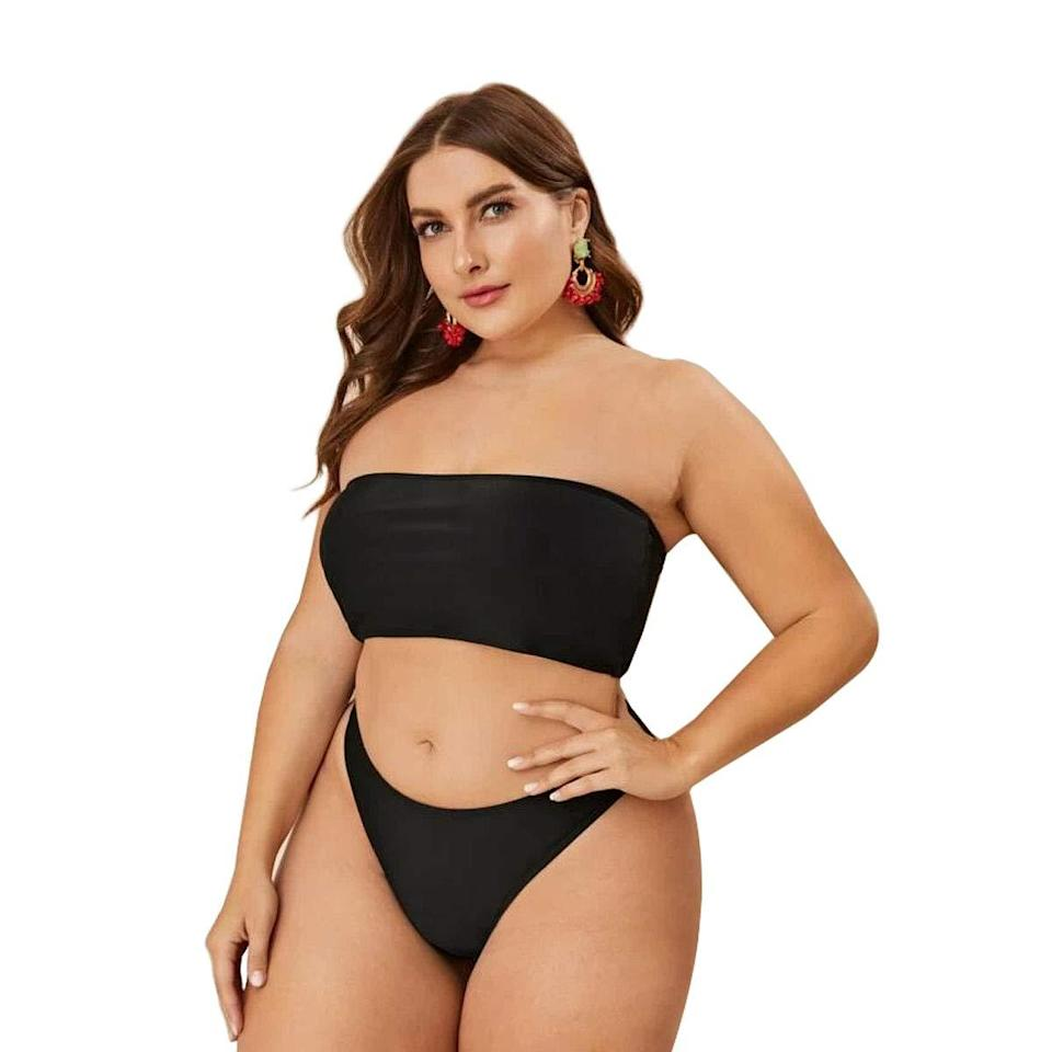 """<h2>Yiiouneey High Cut Bandeau Bikini</h2><br>The LBS (that's little black swimsuit) is a needed summer staple — and, if you want to show off a little more booty, this high-cut style is the ticket.<br><br><strong>Hype:</strong> 4 out of 5 stars and 754 reviews<br><br><strong>Reviewers Say:</strong> """"I love it! I'm a 24 bottom and 2x top, ordered the 3x and it's a good fit. The breast area a little big because I don't have any lol, but I love it. BBW don't be afraid to Rock that two-piece!""""<br><br><em>Shop<a href=""""https://www.amazon.com/Yii-ouneey-Swimsuits-Bandeau-Swimwear/dp/B08DF9F8KG/ref=pd_rhf_dp_s_pd_crcd_9"""" rel=""""nofollow noopener"""" target=""""_blank"""" data-ylk=""""slk:Amazon"""" class=""""link rapid-noclick-resp""""><strong> Amazon</strong></a></em><br><br><strong>Yiiouneey</strong> Two Piece High Cut Bandeau Bikini, $, available at <a href=""""https://www.amazon.com/Yii-ouneey-Swimsuits-Bandeau-Swimwear/dp/B08DF9F8KG/ref=pd_rhf_dp_s_pd_crcd_9"""" rel=""""nofollow noopener"""" target=""""_blank"""" data-ylk=""""slk:Amazon"""" class=""""link rapid-noclick-resp"""">Amazon</a>"""