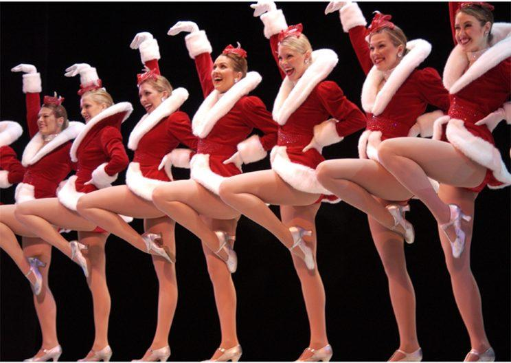 Members of the Radio City Rockettes wear their Christmas costumes. (Photo: AP)