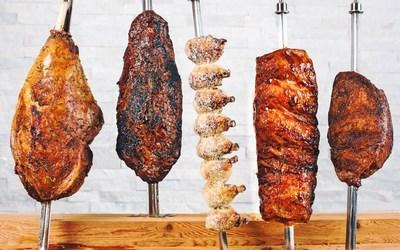 At Texas de Brazil, choose from perfectly seasoned beef, lamb, pork, chicken and Brazilian sausage, cooked over a wood charcoal fire the way cowboys of Southern Brazil have prepared it for generations.