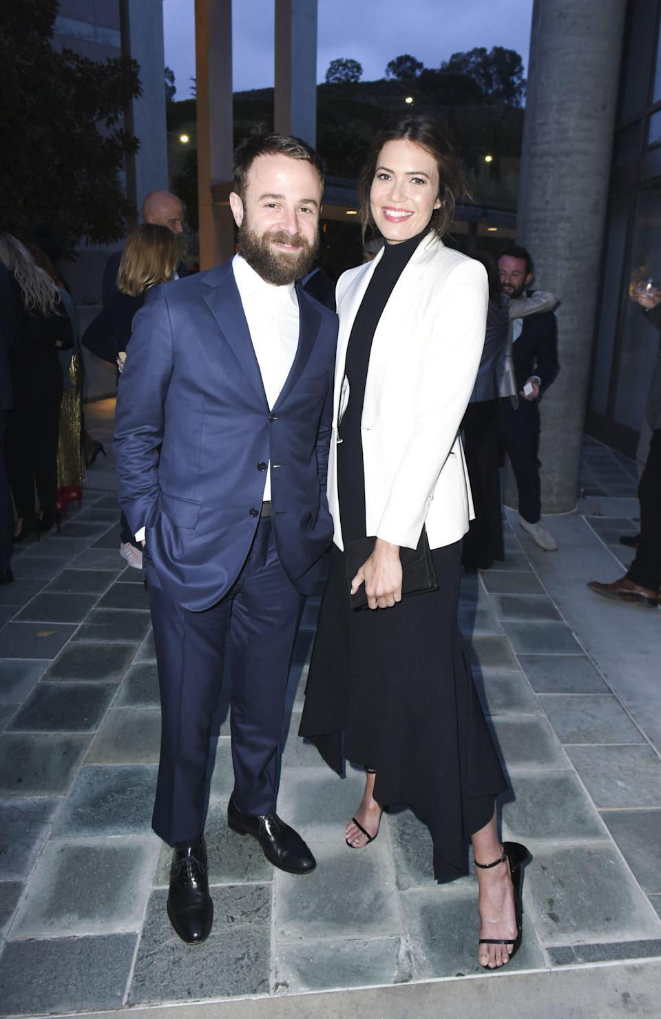 "<p>Mandy Moore is a officially a mom! The <em>This is Us </em>star and her husband, Taylor Goldsmith, welcomed their first child into the world on Feb. 20—and revealed they chose their little one's name for the most special reasons. <br> <br>The actress announced her son's arrival by sharing a photo of the newborn on Instagram, zoomed in on his pale blue onesie to obscure his face. ""Gus is here 💙💙💙💙,"" Mandy wrote in the caption. ""Our sweet boy, August Harrison Goldsmith. He was punctual and arrived right on his due date, much to the delight of his parents. We were prepared to fall in love in all sorts of brand new ways, but it goes beyond anything we could have ever imagined.""</p><p>ICYDK, the new parents have been married since 2018. The<em> Because I Said So</em> actress and musician tied the knot in a private ceremony in front of close friends and family on Nov. 18, <a href=""https://www.eonline.com/news/932541/inside-mandy-moore-s-private-wedding-ceremony-to-musician-taylor-goldsmith"" rel=""nofollow noopener"" target=""_blank"" data-ylk=""slk:E!"" class=""link rapid-noclick-resp""><em>E!</em> </a>reported. According to a source, it was ""an intimate backyard wedding at Mandy's home that started just after sundown on Sunday evening."" Apparently, the wedding vibe was ""very boho,"" which included ""rugs on the floor surrounding the altar. The flower arrangements were beautiful with lots of large feathers."" Mandy also wore a pastel pink wedding gown.<br></p><p>So...who exactly is Taylor Goldsmith again? Here's everything to know about Mandy's hubby and baby daddy, and their cute love story. </p>"