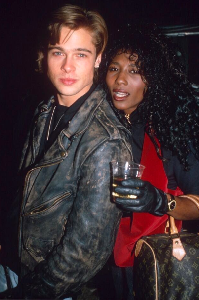 "<p>In the late 80s, Pitt had a four year on-and-off relationship with ""Toy Boy"" singer, Sinitta. The pair called it quits and while the actor went on to make a name of his own in Hollywood, Sinitta went on to star in the U.K. version of ""X-Factor"" alongside ex-boyfriend, Simon Cowell.<br /><em>(Image via Twitter)</em> </p>"