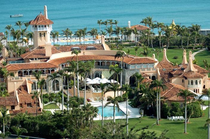 An aerial view of Mar-a-Lago in Palm Beach, Fla. (Photo by John Roca/NY Daily News Archive via Getty Images)